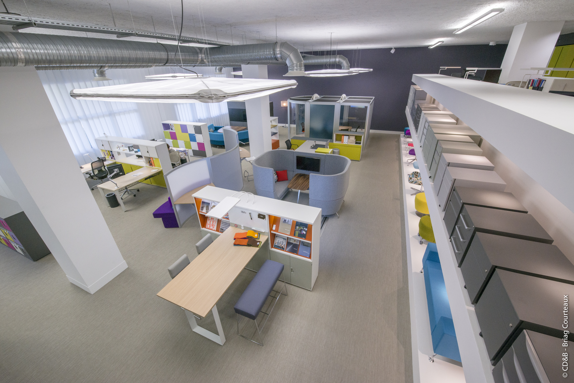Conseil, aménagement, conception et réalisation des espaces de la société Bisley par CDB, Meet you there.