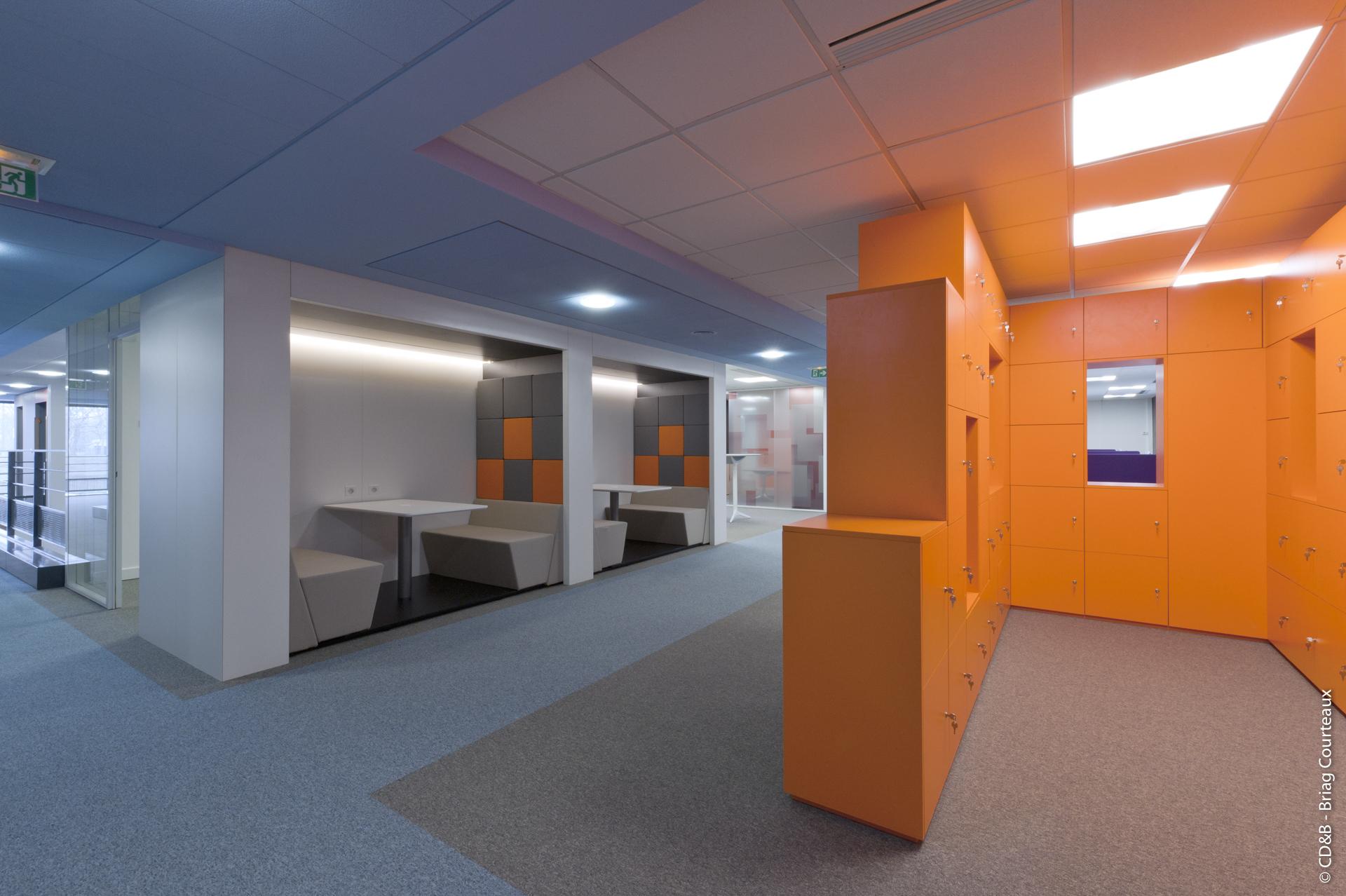 Conseil, aménagement, conception et réalisation des espaces de la société ECONOCOM par CDB, Meet you there.