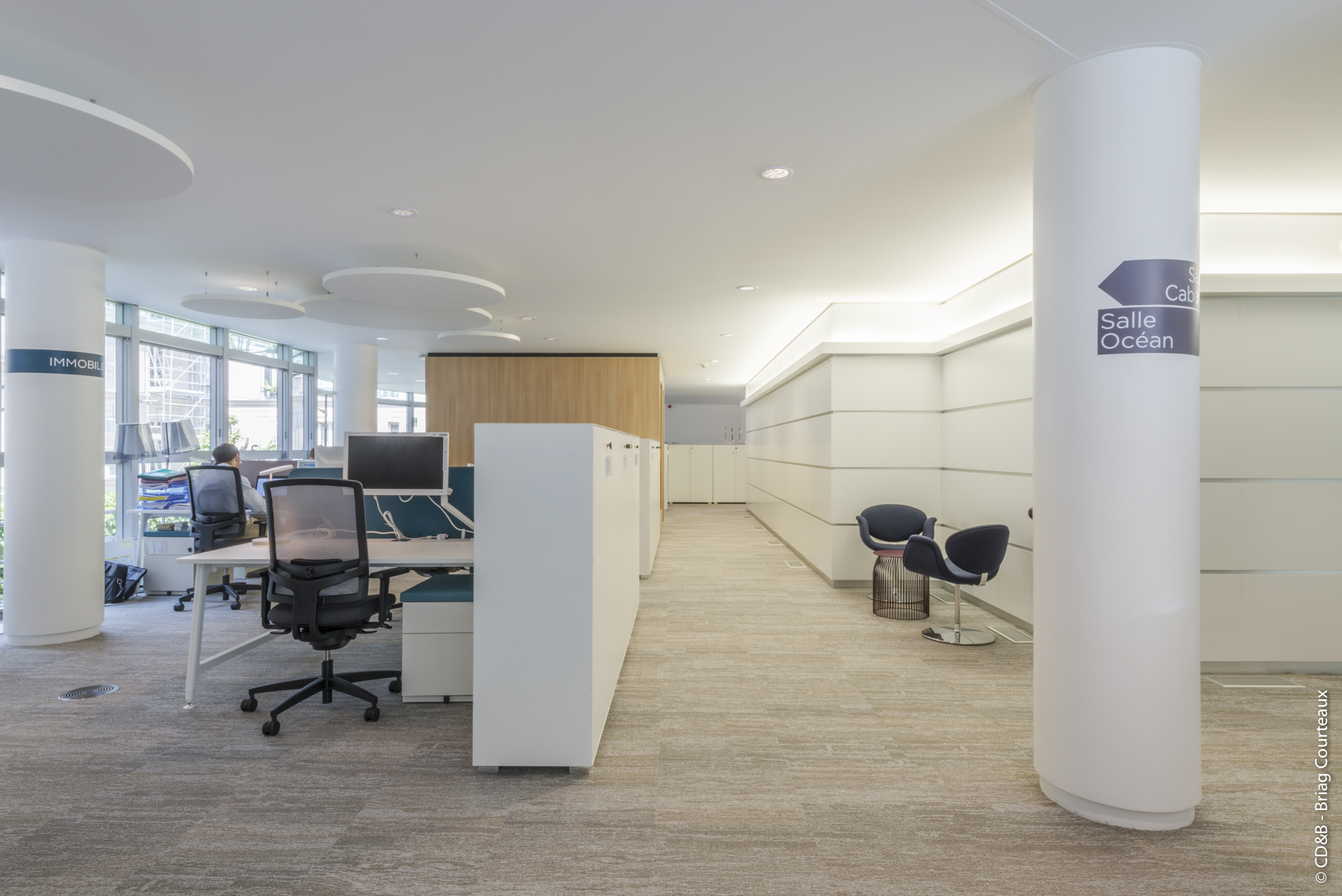 Conseil, aménagement, conception et réalisation des espaces de la société Korian par CDB, Meet you there.
