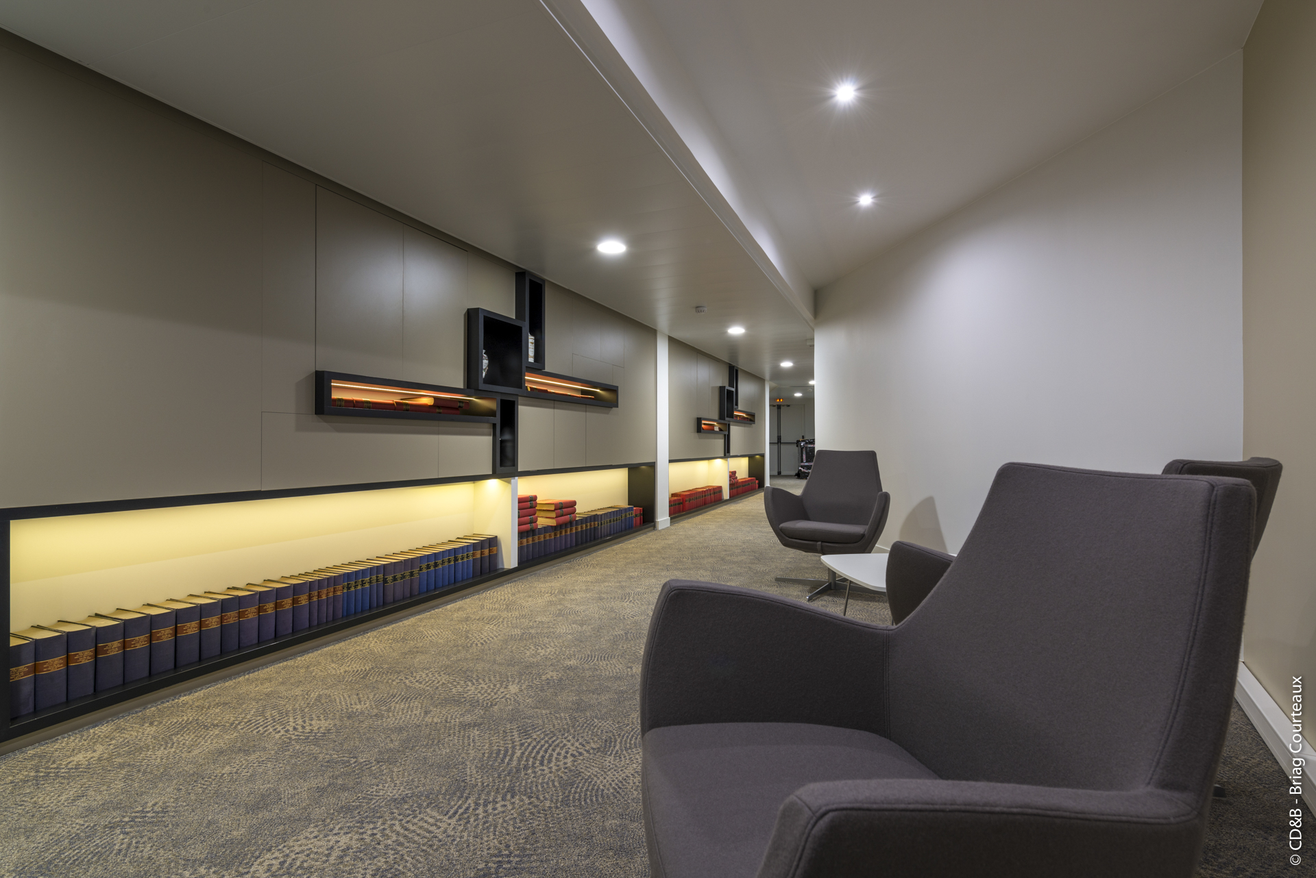Conseil, aménagement, conception et réalisation des espaces de la société Leem par CDB, Meet you there.