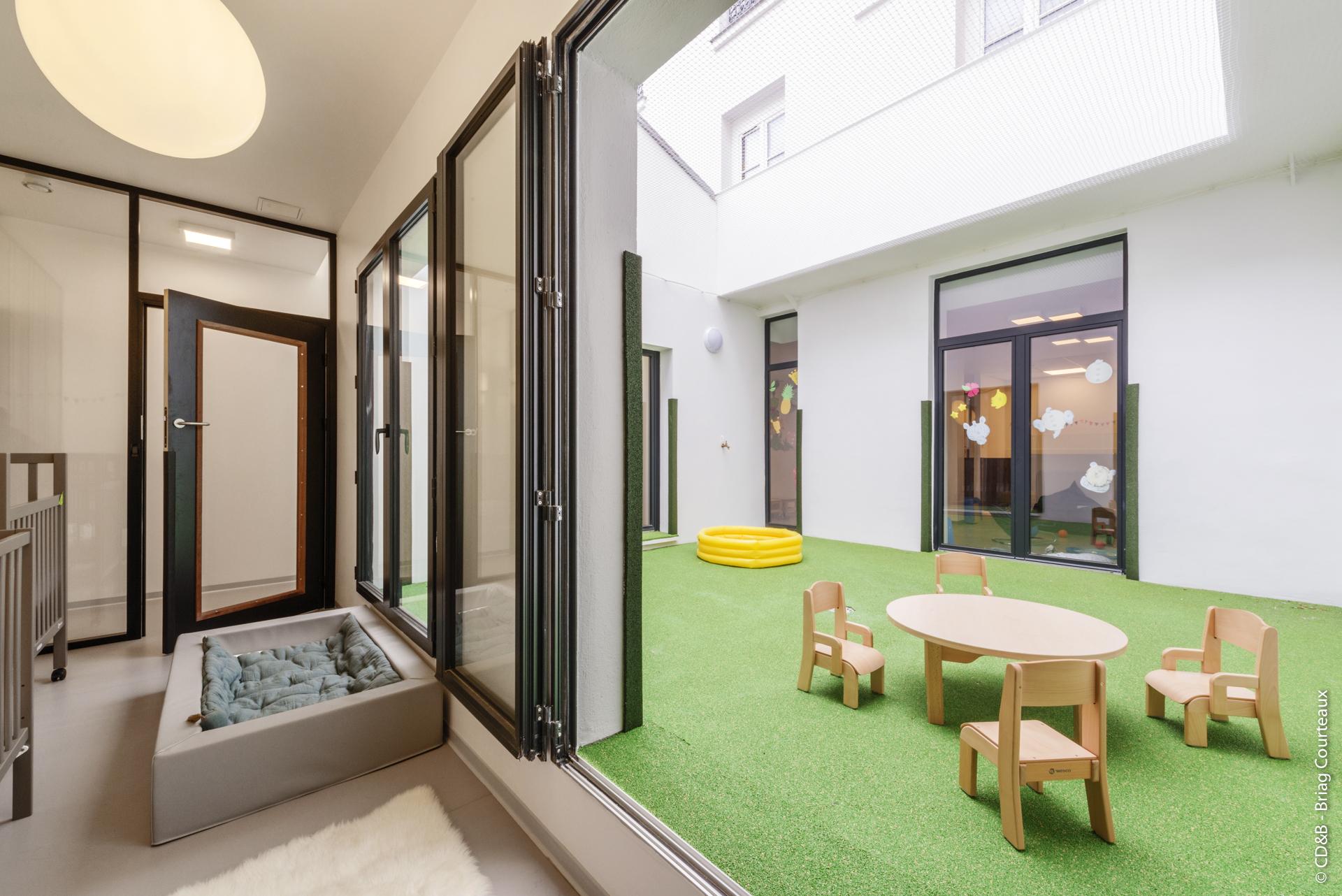 Conseil, aménagement, conception et réalisation des espaces des Petits Ateliers d'Éveil par CDB, Meet you there.