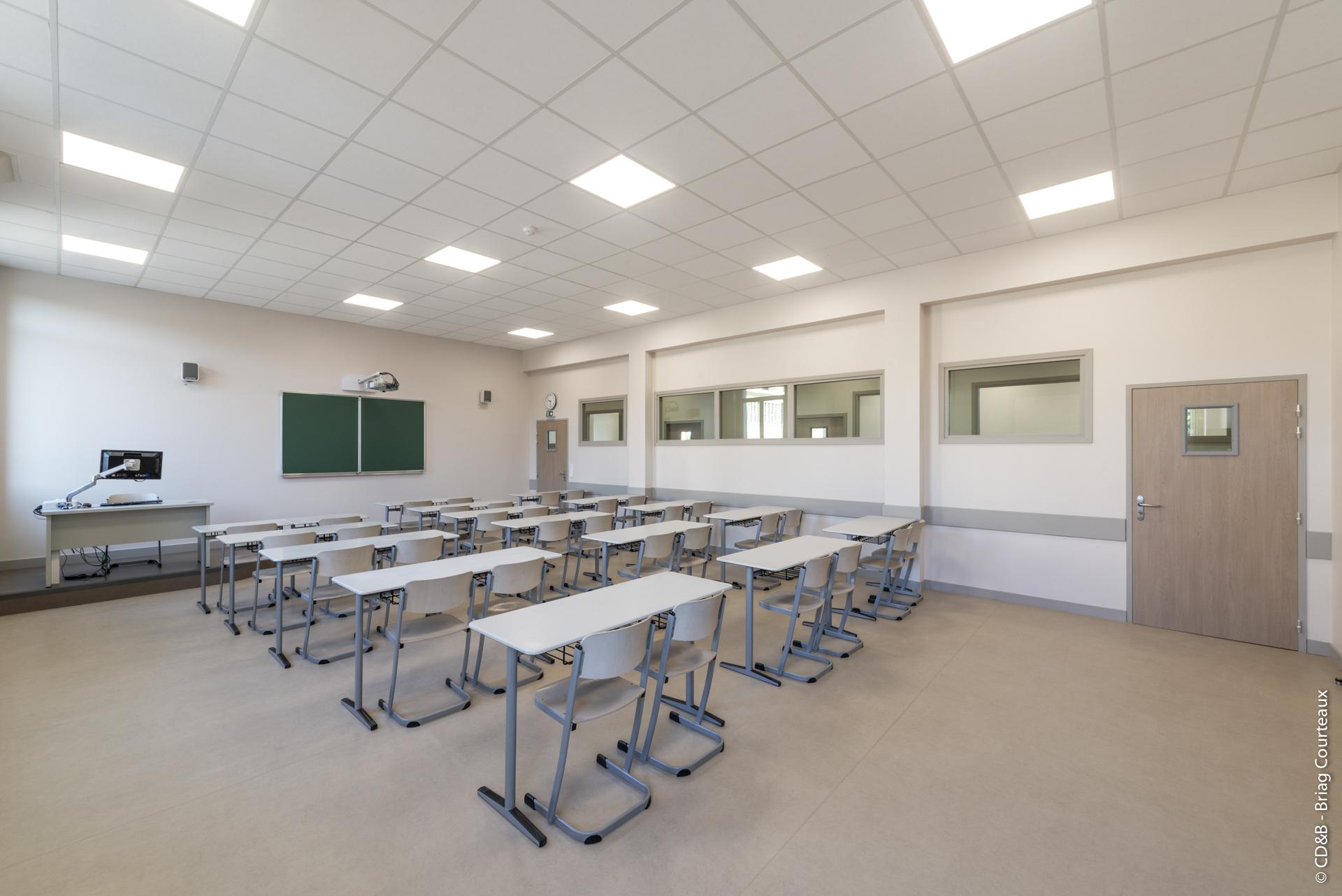 Conseil, aménagement, conception et réalisation des espaces du Lycée Passy-Buzenval par CDB, Meet you there.