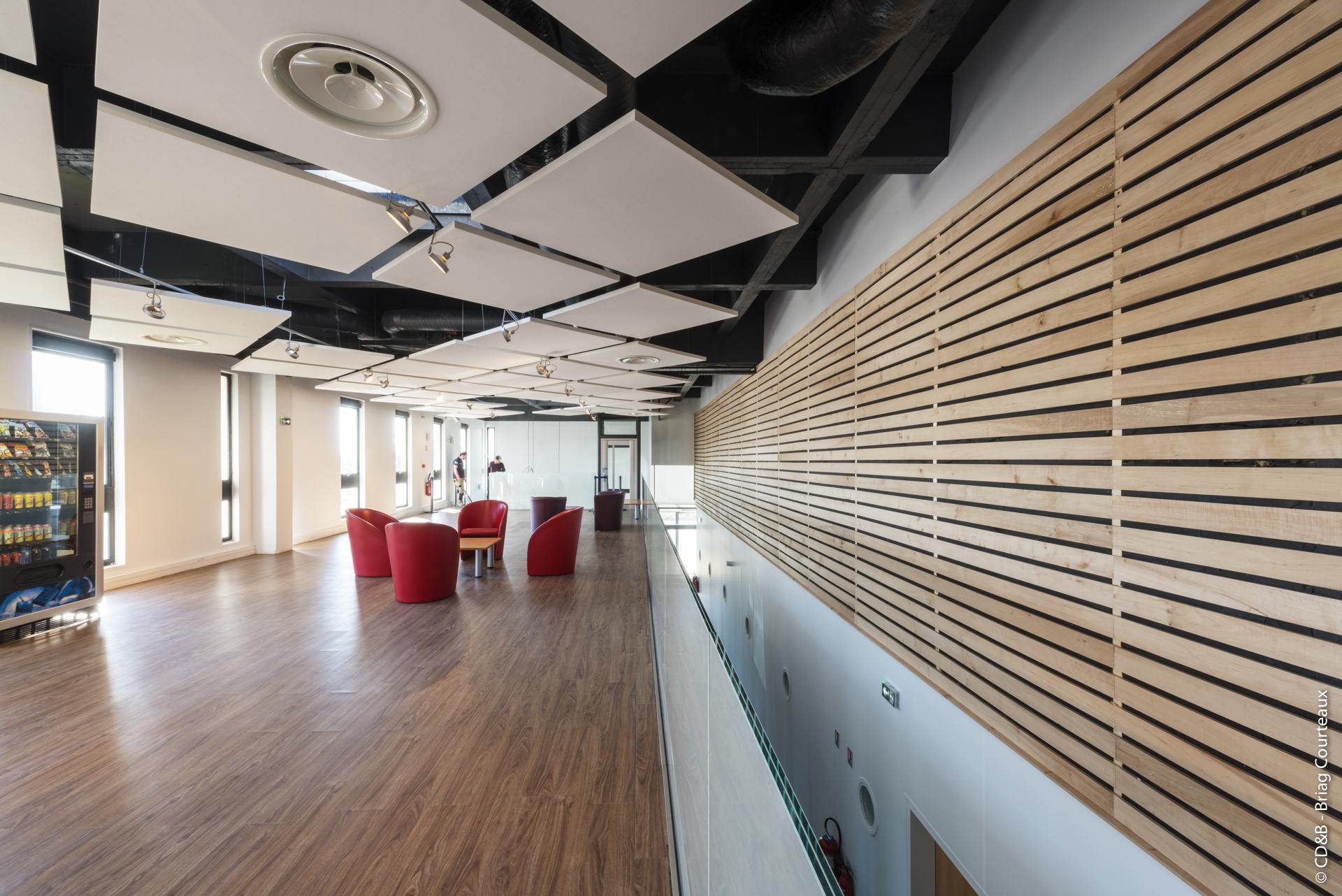 Conseil, aménagement, conception et réalisation des espaces de la société Osiatis par CDB, Meet you there.