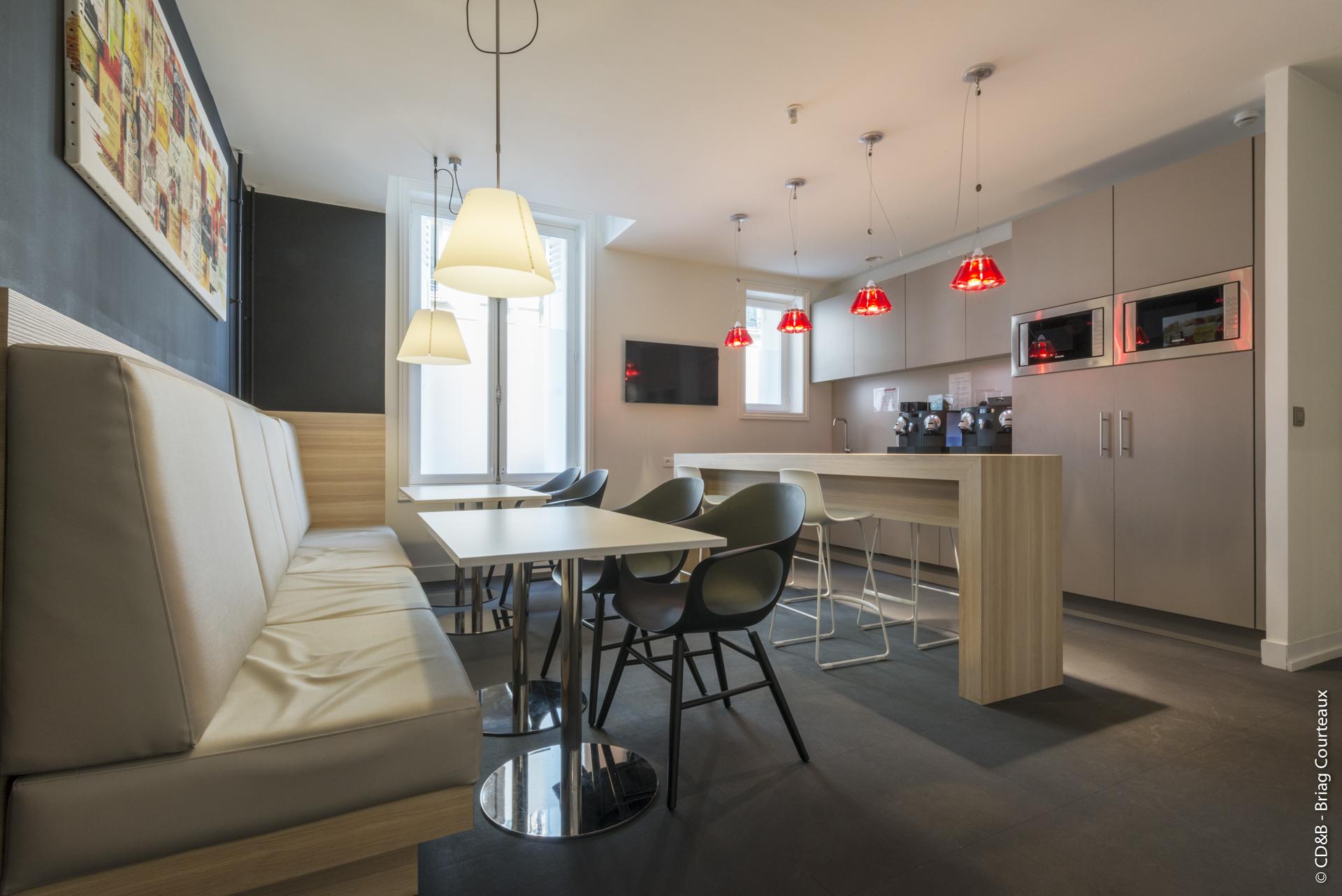 Conseil, aménagement, conception et réalisation des espaces de la société Rothschild par CDB, Meet you there.