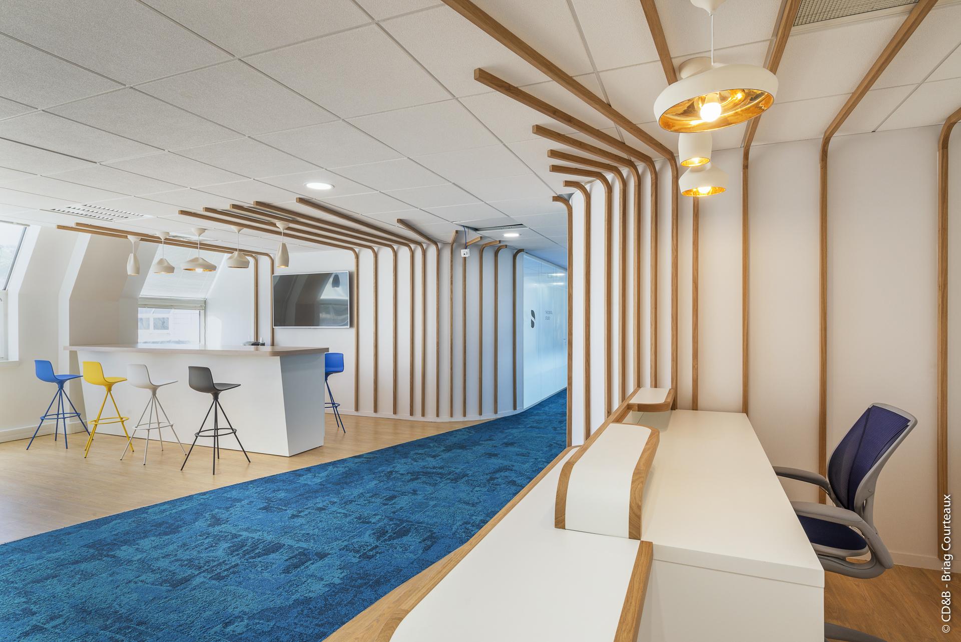 Conseil, aménagement, conception et réalisation des espaces de la société Dentsply Sirona par CDB, Meet you there.