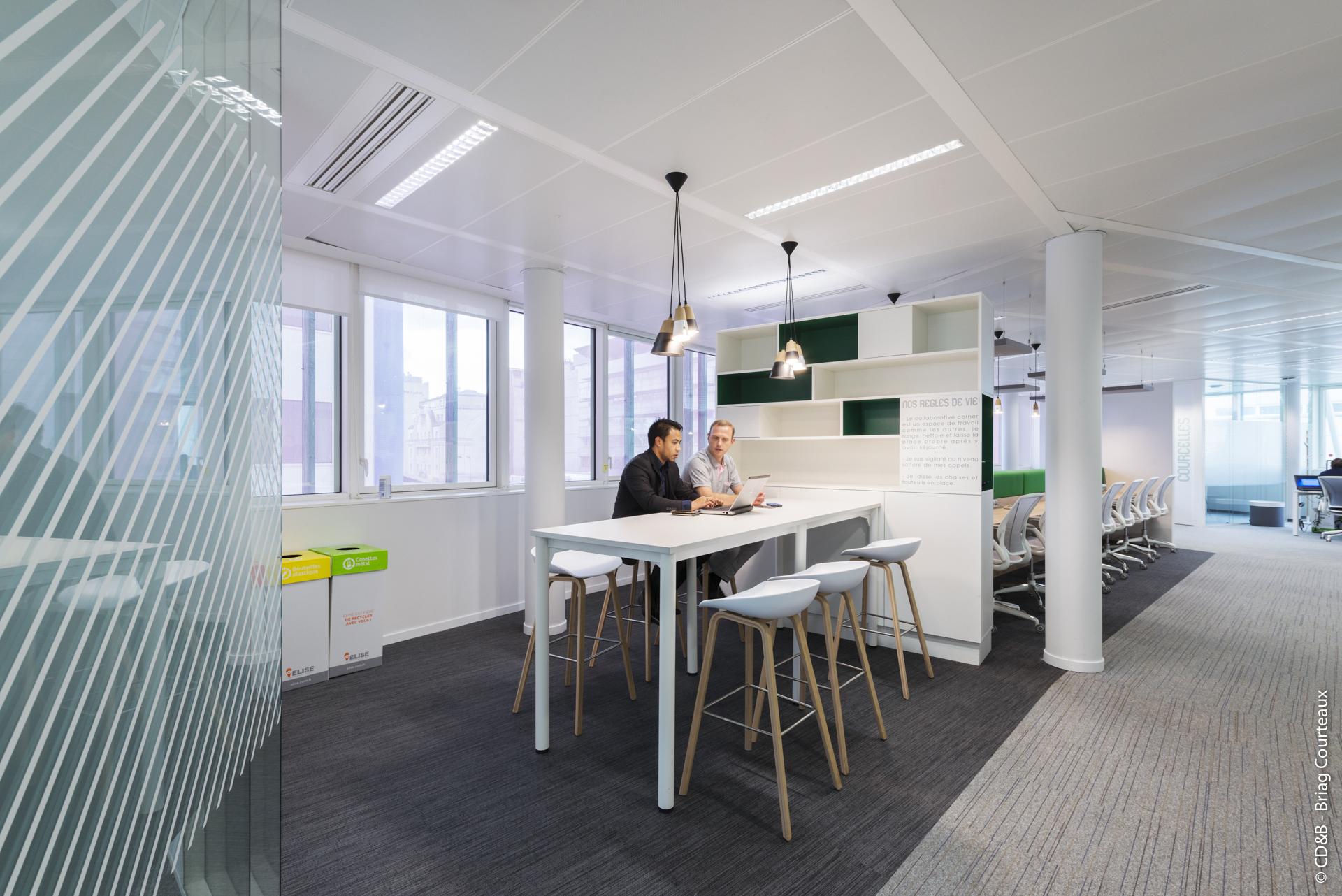 Conseil, aménagement, conception et réalisation des espaces de travail chez Generix par CDB, Meet you there.
