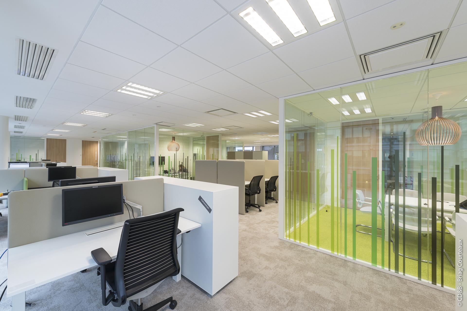 Conseil, aménagement, conception et réalisation des espaces de la société Quintiles par CDB, Meet you there.