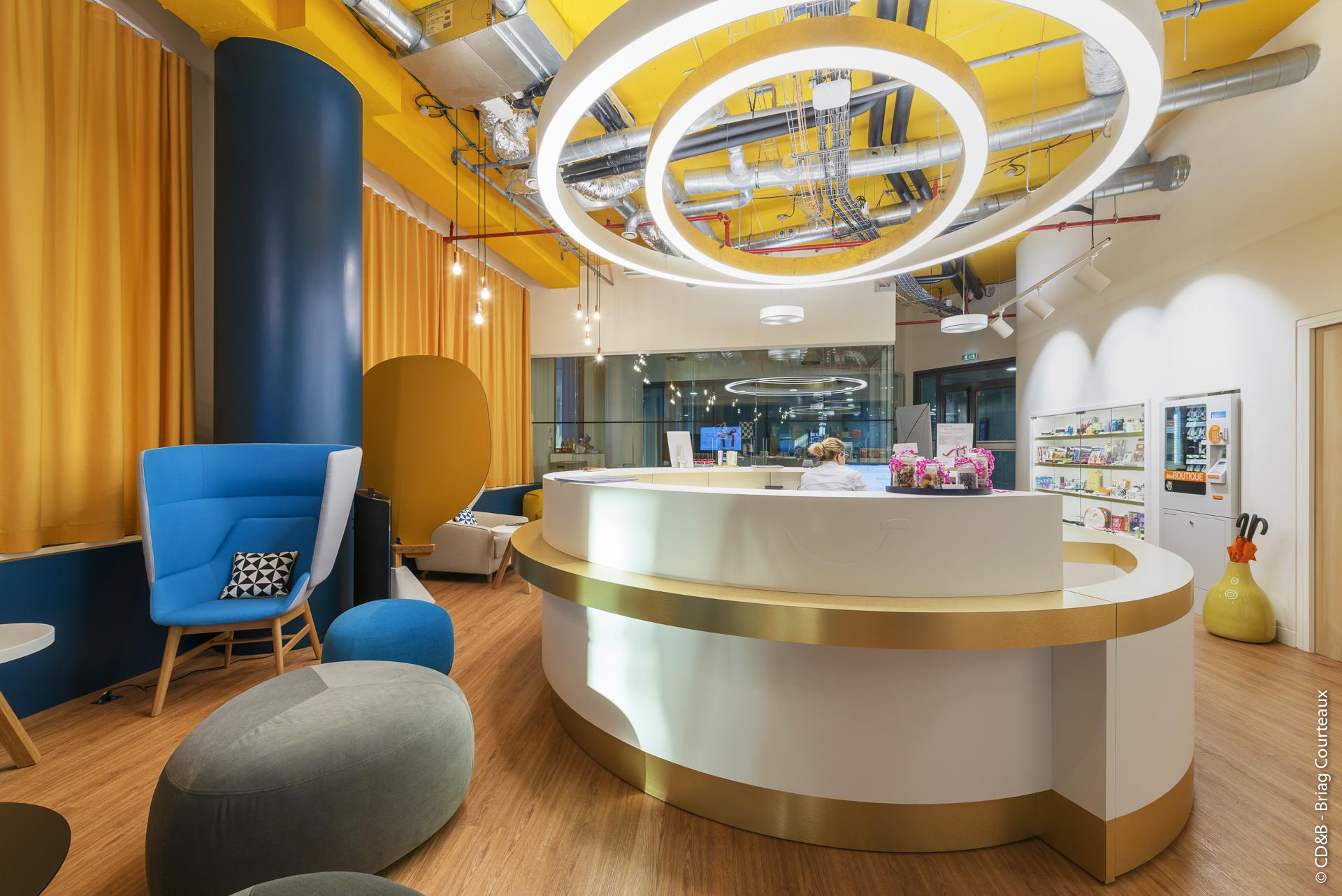 Conseil, aménagement, conception et réalisation des espaces de travail chez Groupe Accor par CDB, Meet you there.