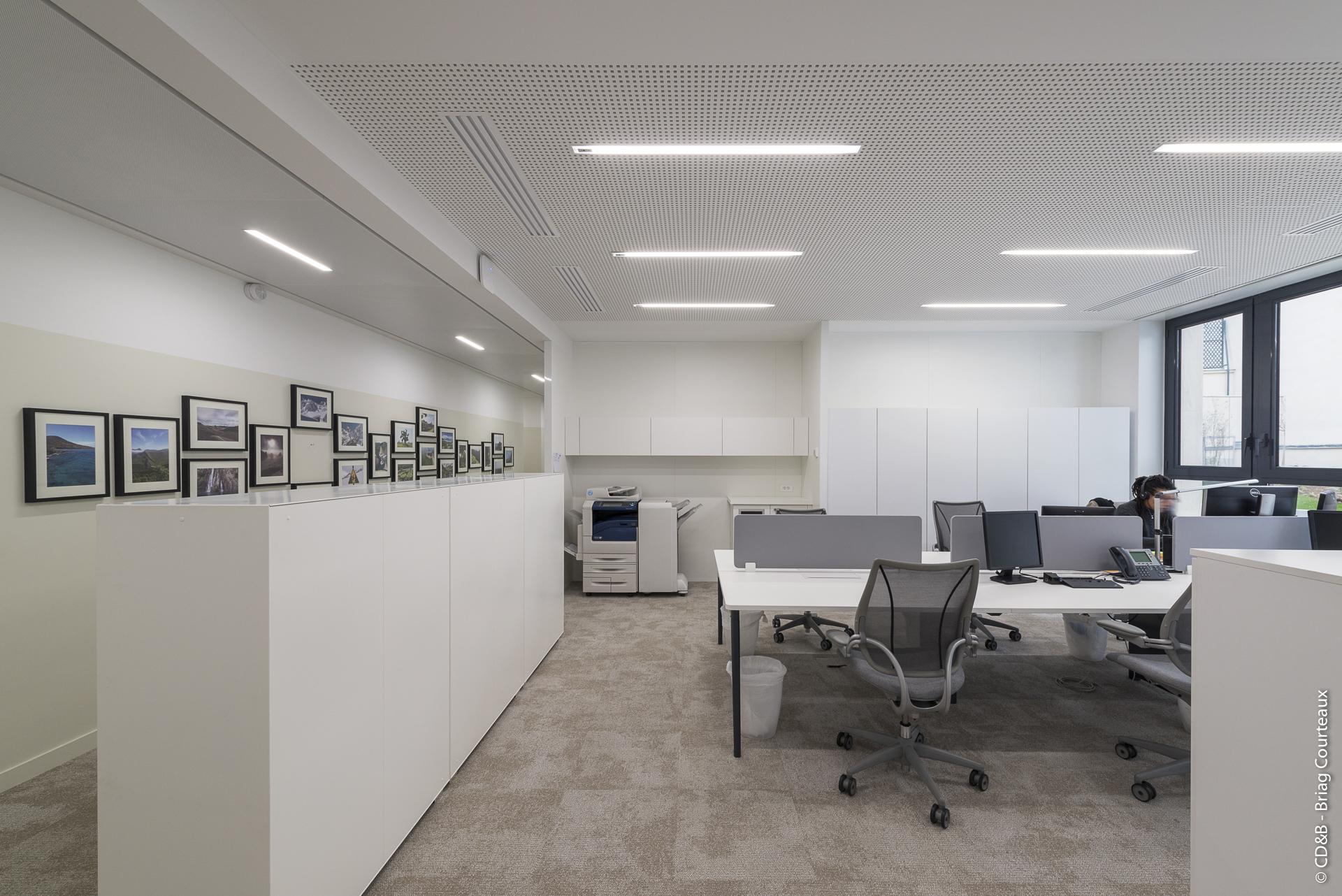 Conseil, aménagement, conception et réalisation des espaces de la société DTZ Investors par CDB, Meet you there.