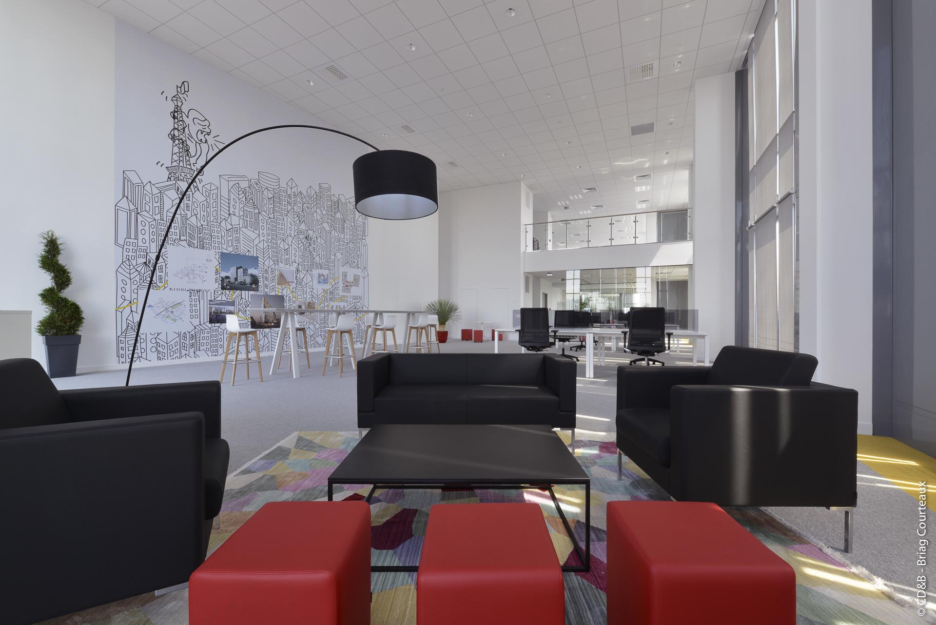 Conseil, aménagement, conception et réalisation des espaces de la société Kaufman & Broad par CDB, Meet you there.