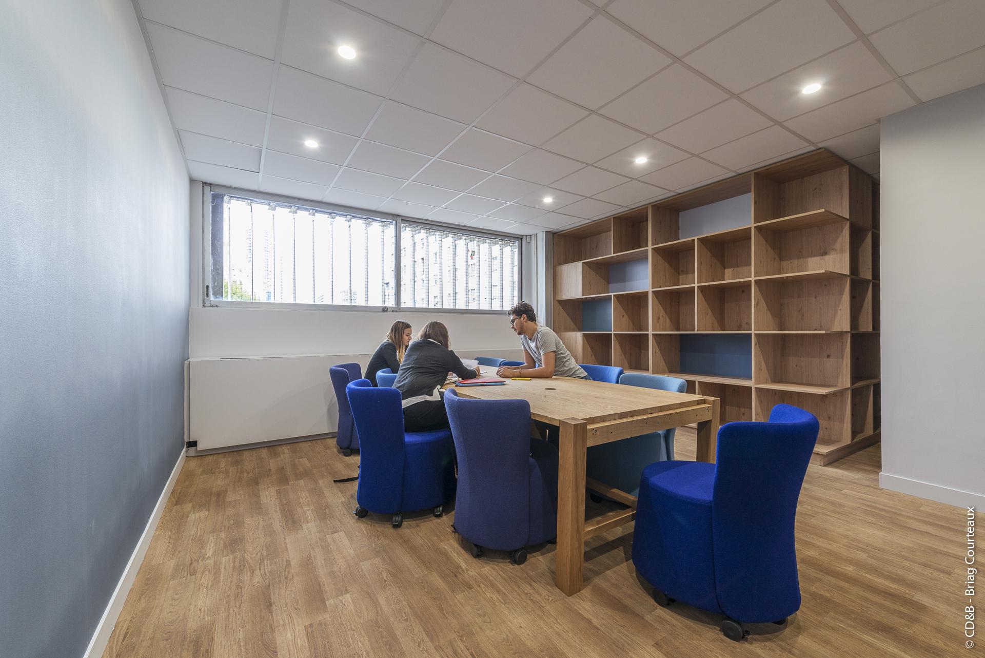 Conseil, aménagement, conception et réalisation des espaces de la société F. INICIATIVAS par CDB, Meet you there.