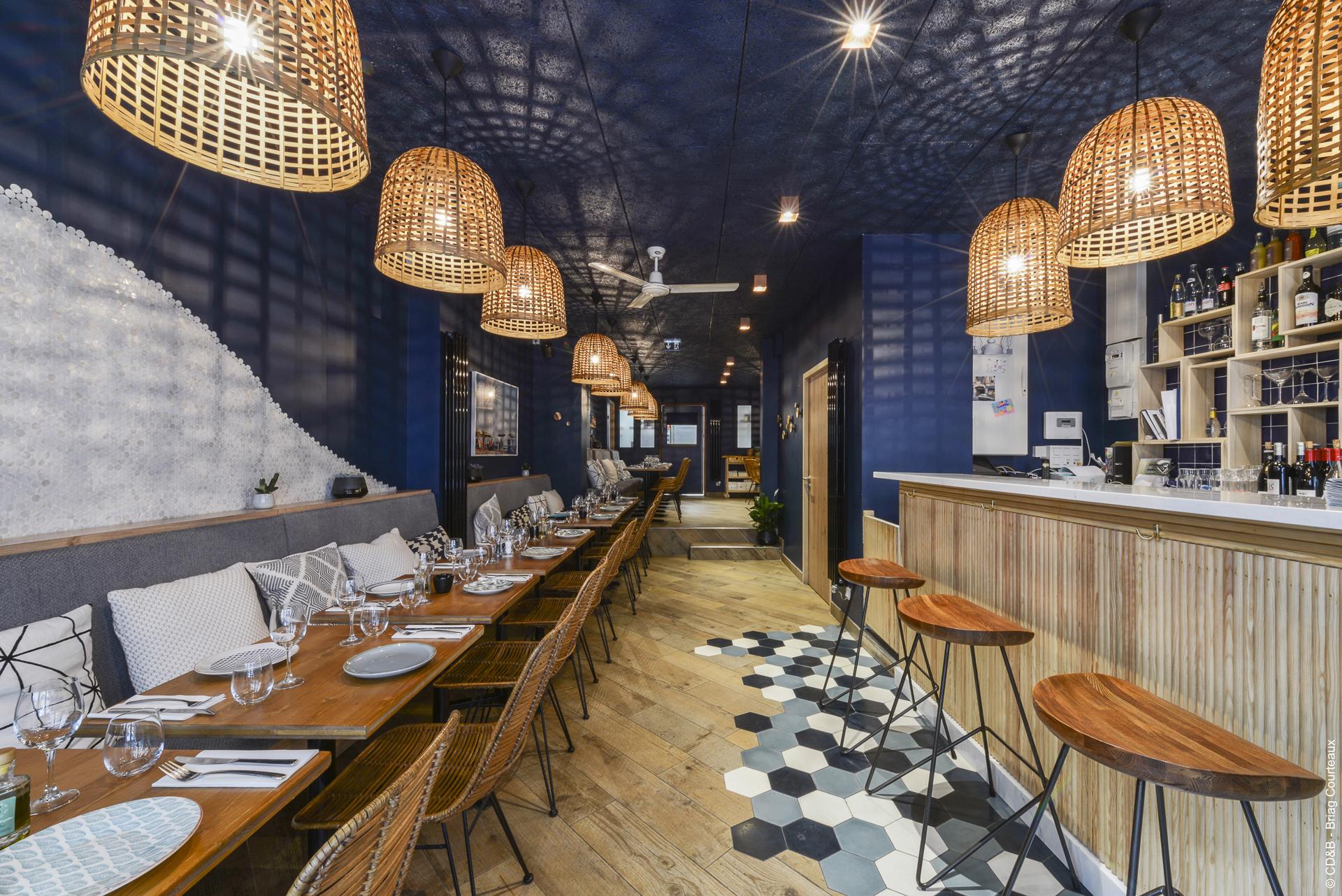 Conseil, aménagement, conception et réalisation des espaces du restaurant L'Épuisette par CDB, Meet you there.