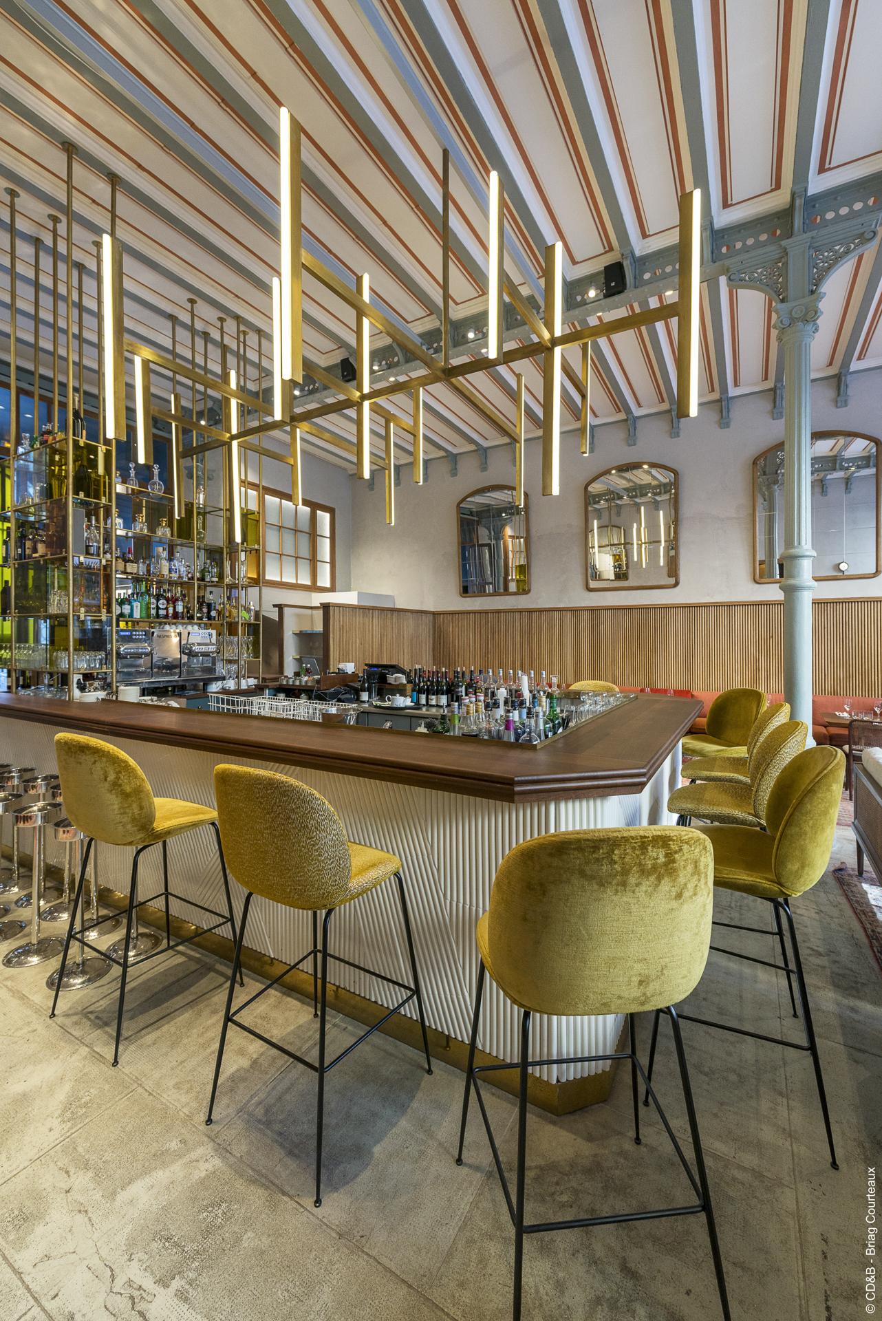 Conseil, aménagement, conception et réalisation des espaces du restaurant Le Camondo par CDB, Meet you there.
