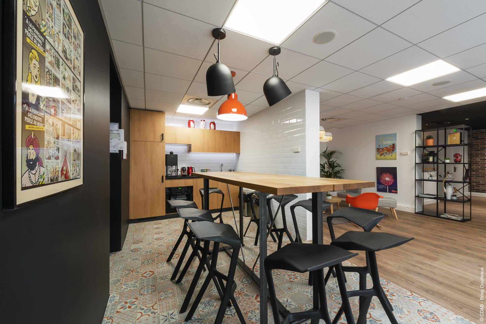Conseil, aménagement, conception et réalisation des espaces de bureaux de la société SOPEXA par CDB, Meet you there.