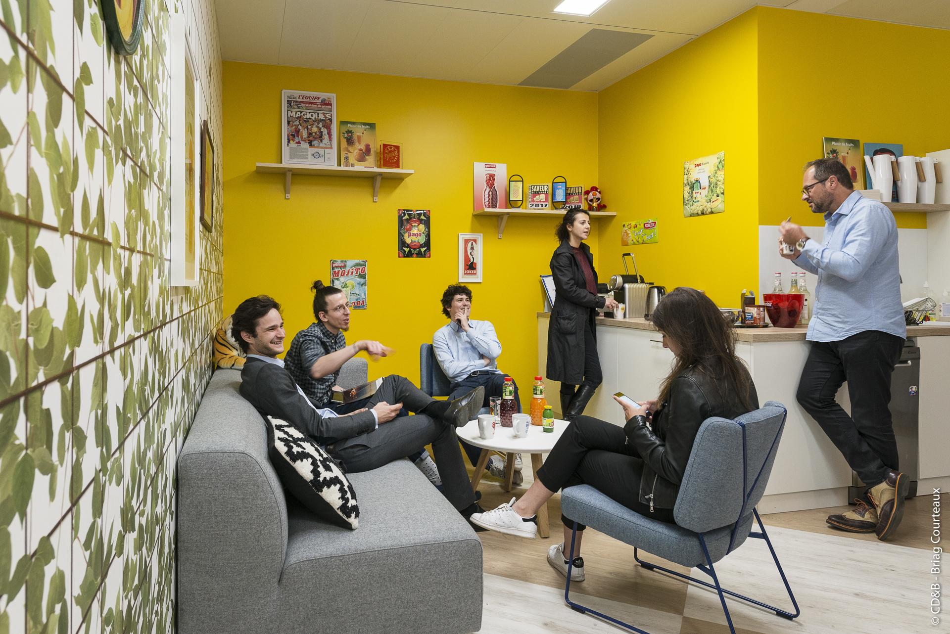 Conseil, aménagement, conception et réalisation des espaces de la société ECKES Granini par CDB, Meet you there.