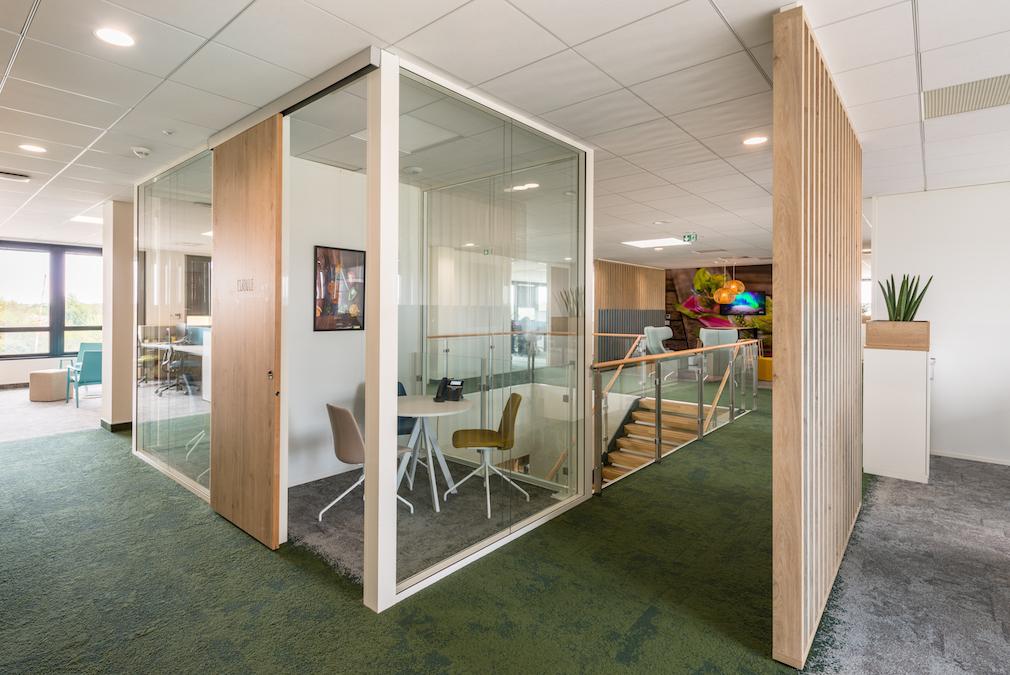 Conseil, aménagement, conception et réalisation des espaces de bureaux de la société Bonduelle par CDB, Meet you there.