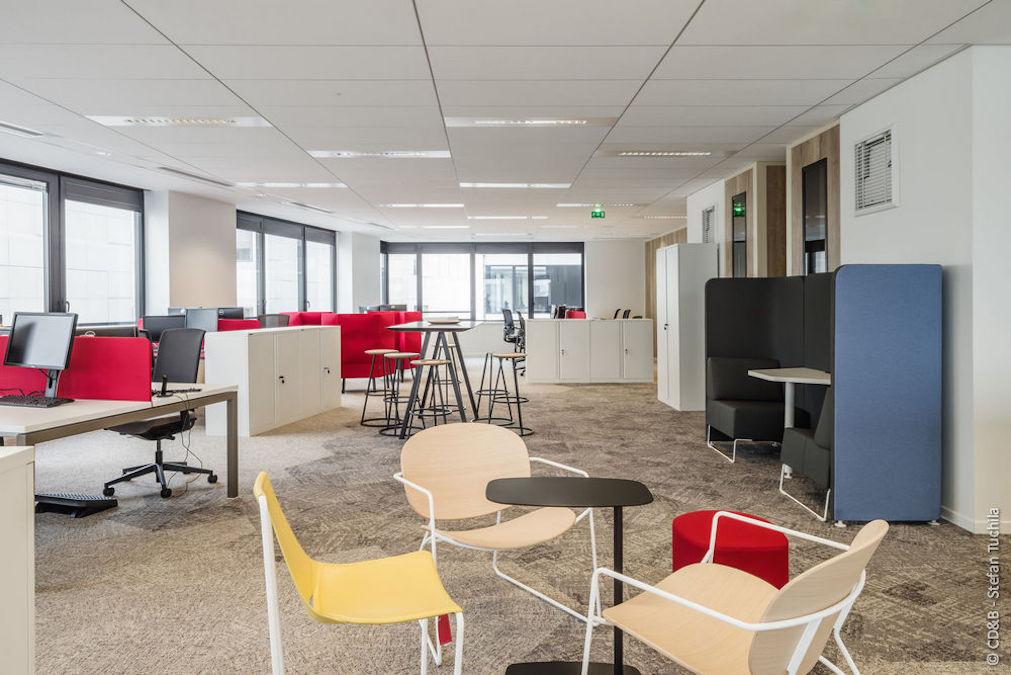 Conseil, aménagement, conception et réalisation des espaces de la société SATEC par CDB, Meet you there.