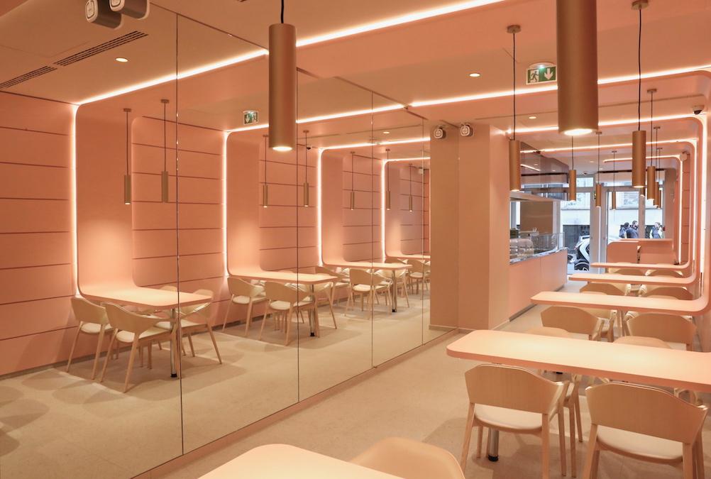 Conseil, aménagement, conception et réalisation des espaces du restaurant Marxito par CDB, Meet you there.