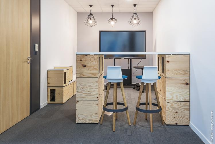 Conseil, aménagement, conception et réalisation des espaces de bureaux de la société SOCOTEC par CDB, Meet you there.