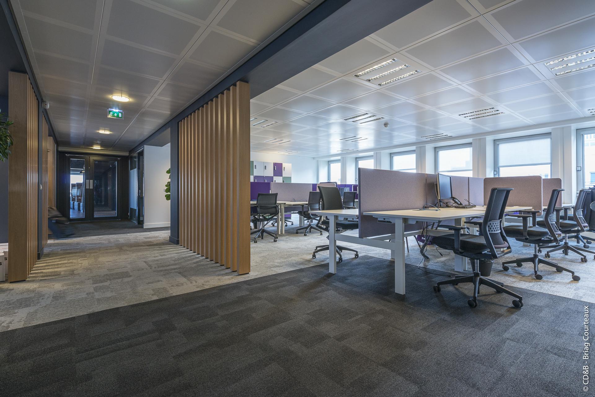 Conseil, aménagement, conception et réalisation des espaces de travail chez COGNIZANT par CDB, Meet you there.