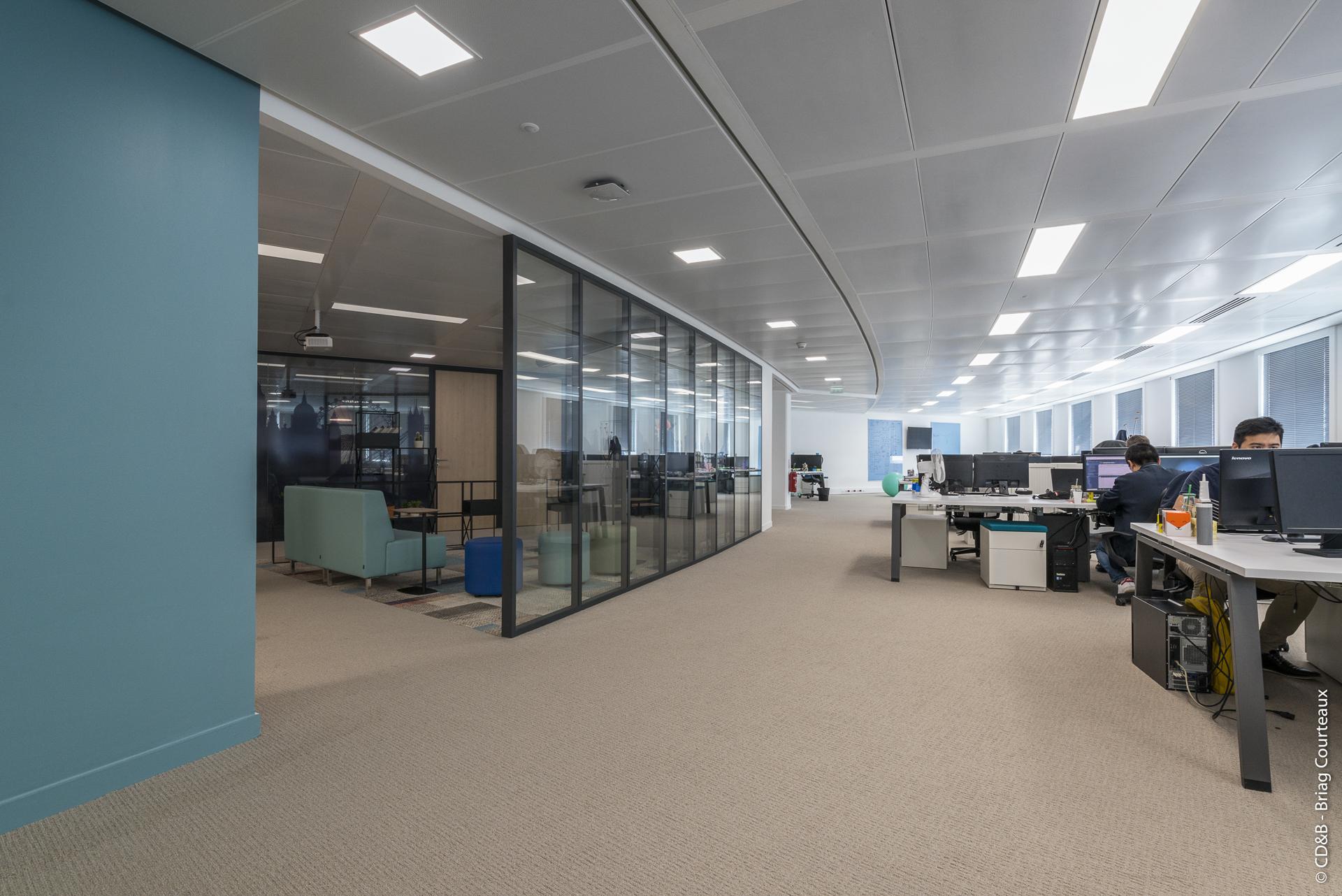 Conseil, aménagement, conception et réalisation des espaces de bureaux de la société JUMP par CDB, Meet you there.