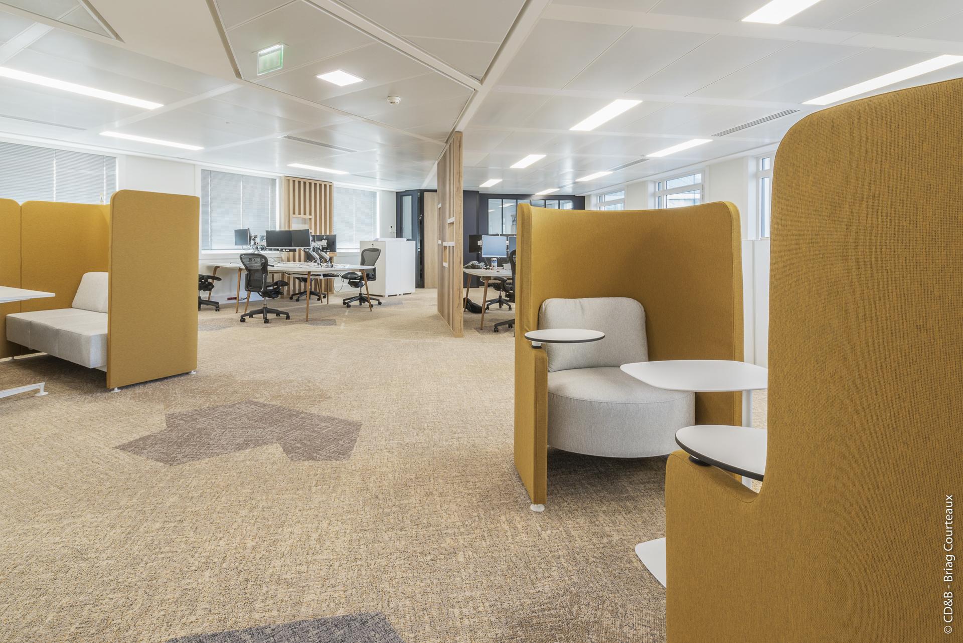 Conseil, aménagement, conception et réalisation des espaces de bureaux de la société PRIMEXIS par CDB, Meet you there.