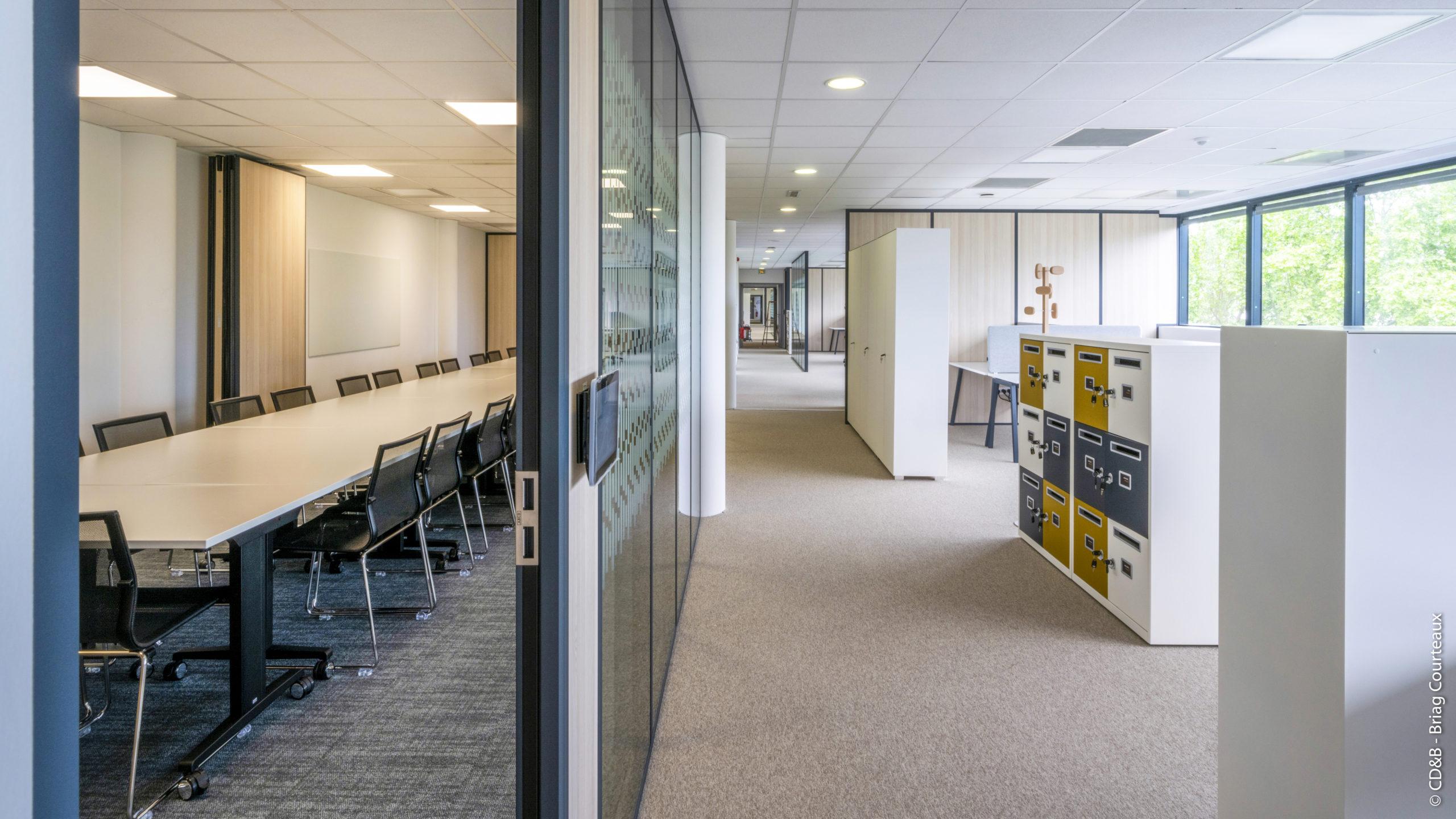 Conseil, aménagement, conception et réalisation du siège social de MILLEIS par CDB, Meet you there.