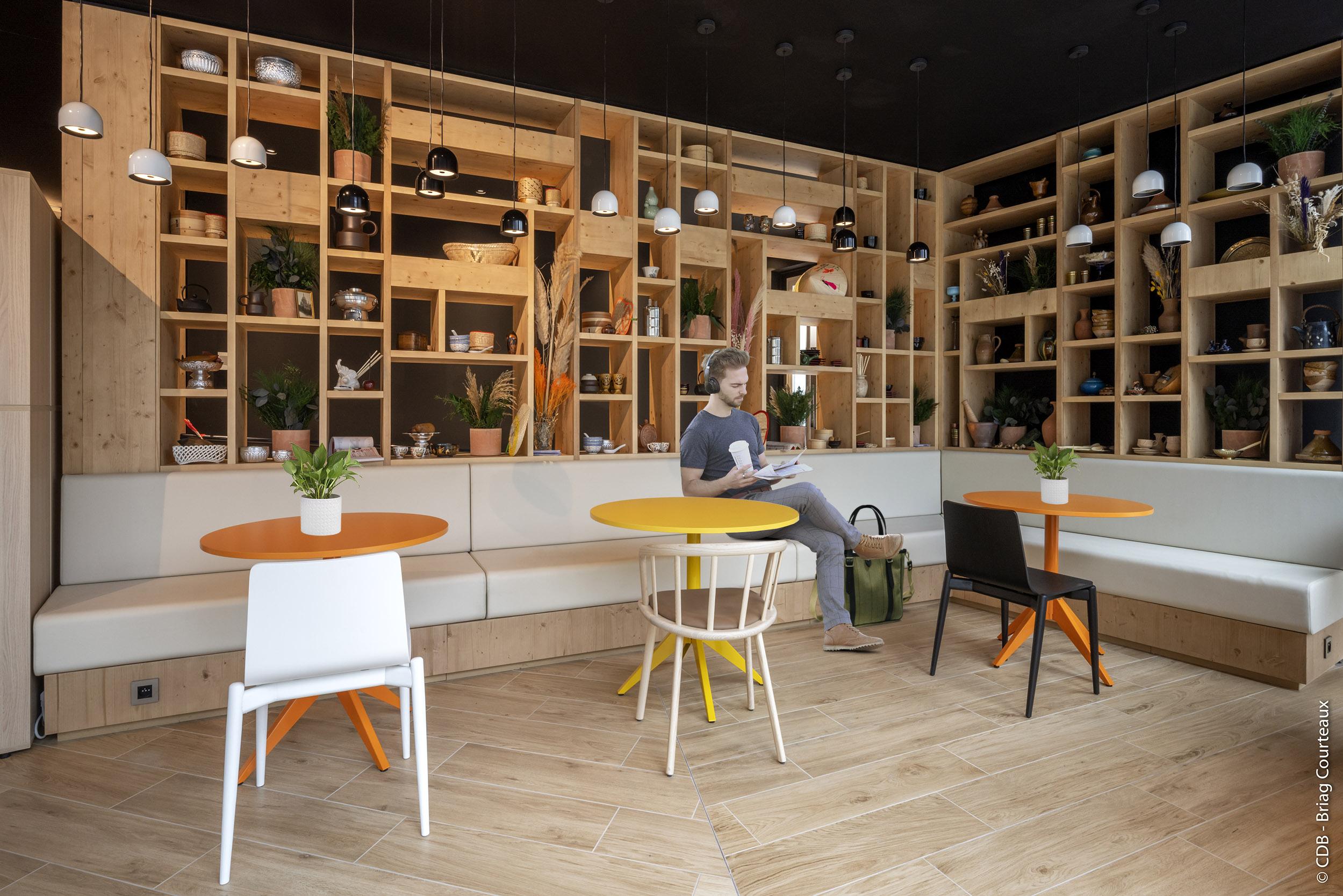 Aménagement, conception et réalisation des bureaux de Danone par CDB, Meet you there.